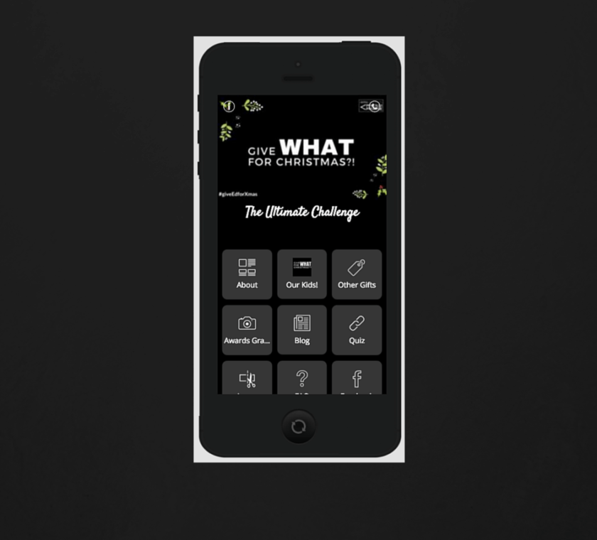 #GiveWHATforXmas: Adsy Microsite and Mobile Web
