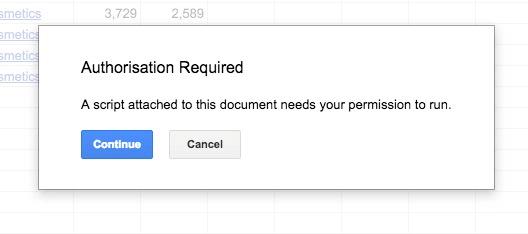 Google Apps Script Authorise