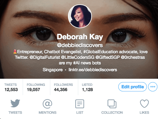 debbiediscovers profile on twitter