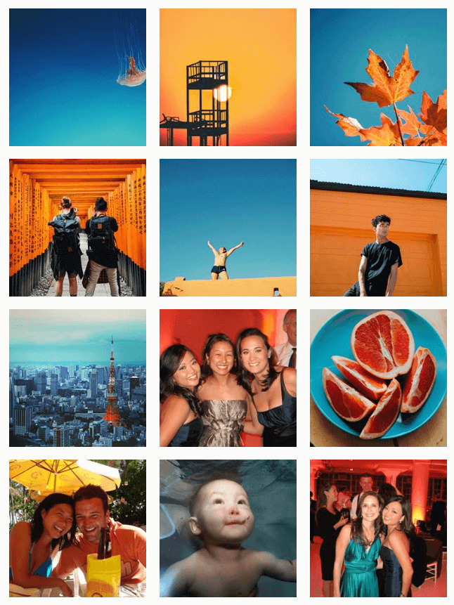 debbiediscovers instagram with orange and blue color theme
