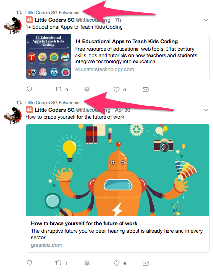 littlecoderssg retweet example