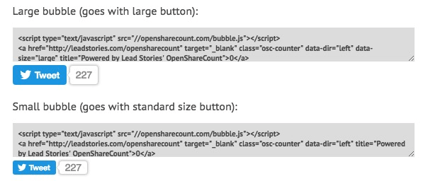 open share count - Twitter Shares